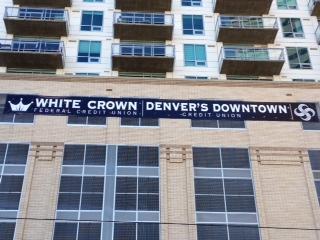 White Crown CUB banner. Banner sale