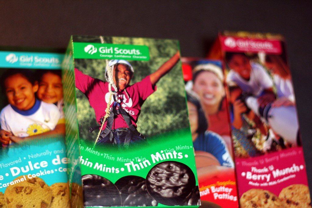 Girl Scout Cookies green box Girl Scouts Celebrating 94 Years