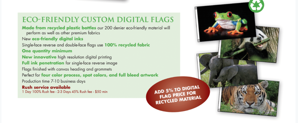 Eco Friendly Flags