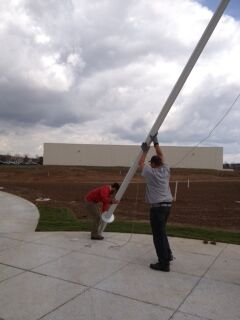 Colorado freedom memorial flagpole installation 1