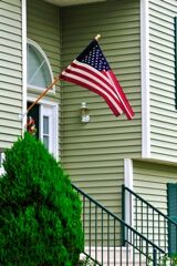 American Flag on home - have you looked at your flag today?