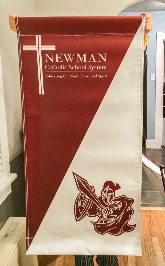 Custom Flag Company Vertical School Banner