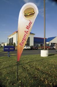 Cusrom Flag Company Teardrop Banner