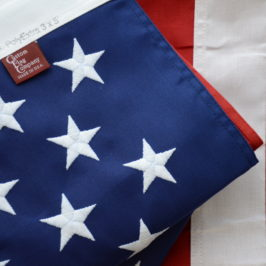 Display of US Polyester flag made by Custom Flag Company, Inc located in Westminster, CO