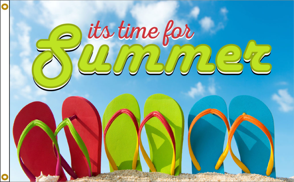 Summer sandals flag