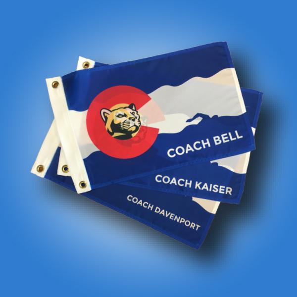 Custom flag of the week - cougars coach heat press