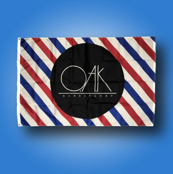 Custom Flag Company Barber Shop Flag