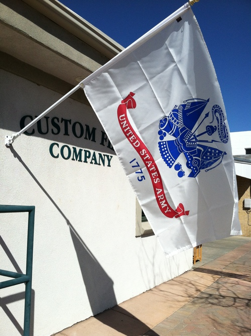 Custom Flag Company US Army Flag on Building
