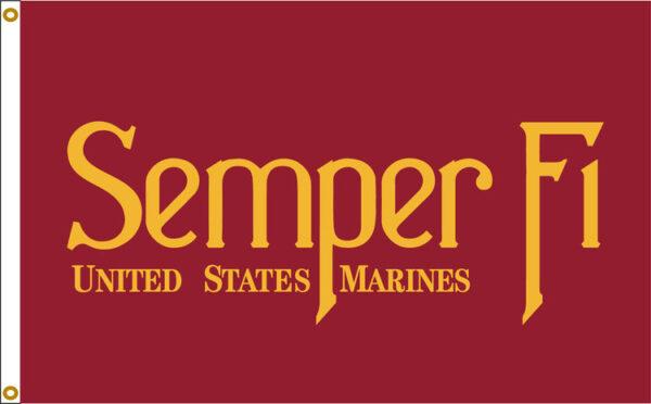 Custom Flag Company US Marines Semper Fi 3x5 Flag