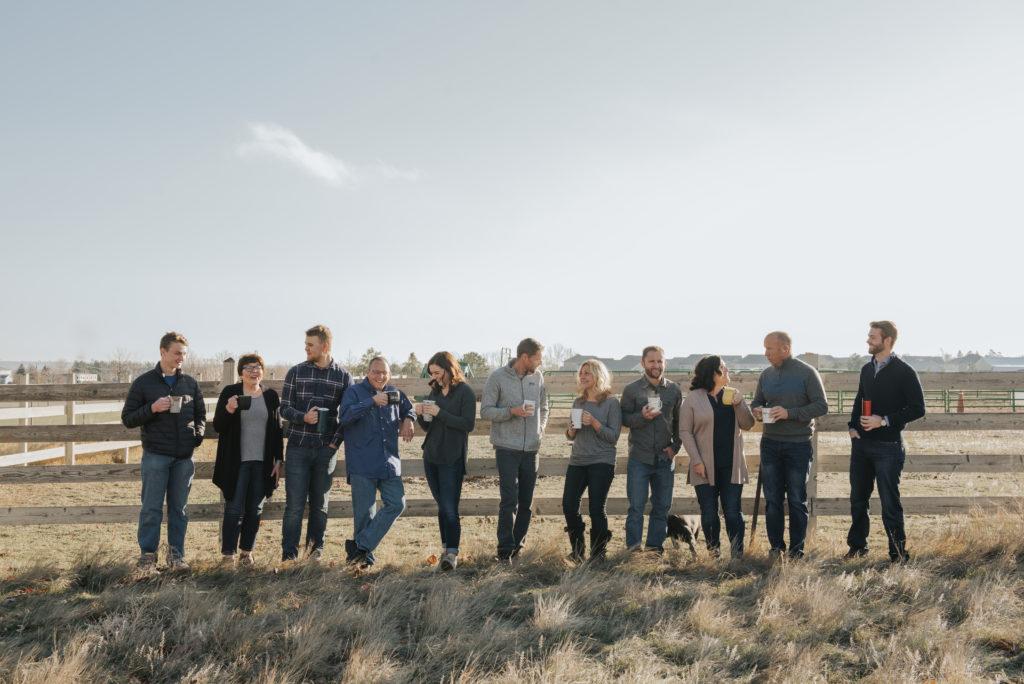 Custom Flag Company team enjoying coffee in Colorado