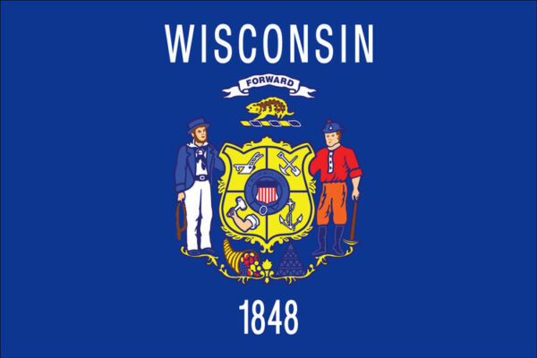 WI+state+Flag