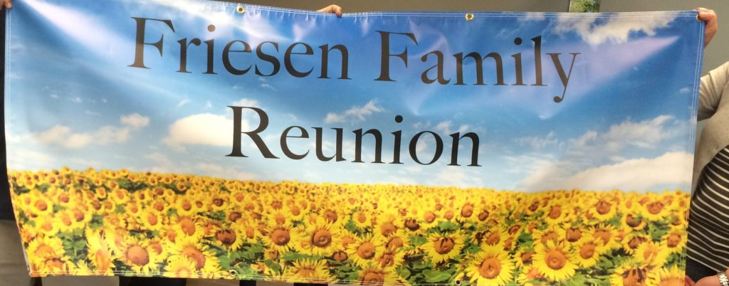 Family reunion banner - the many uses for Vinyl Banners