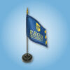 Regis University handheld flags for graduation