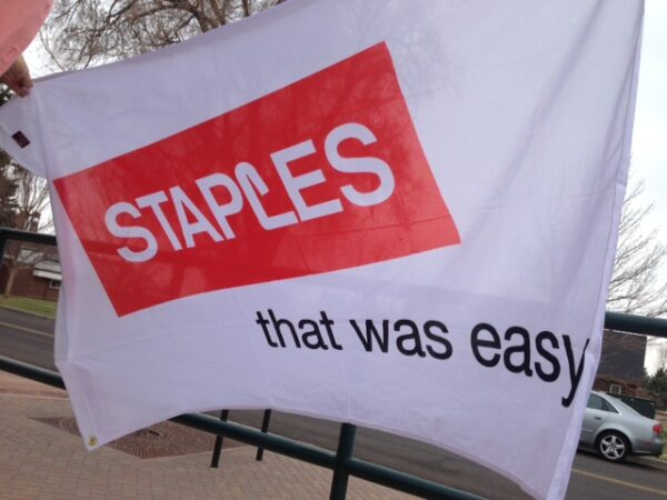Staples Corporate and Business Custom Flag