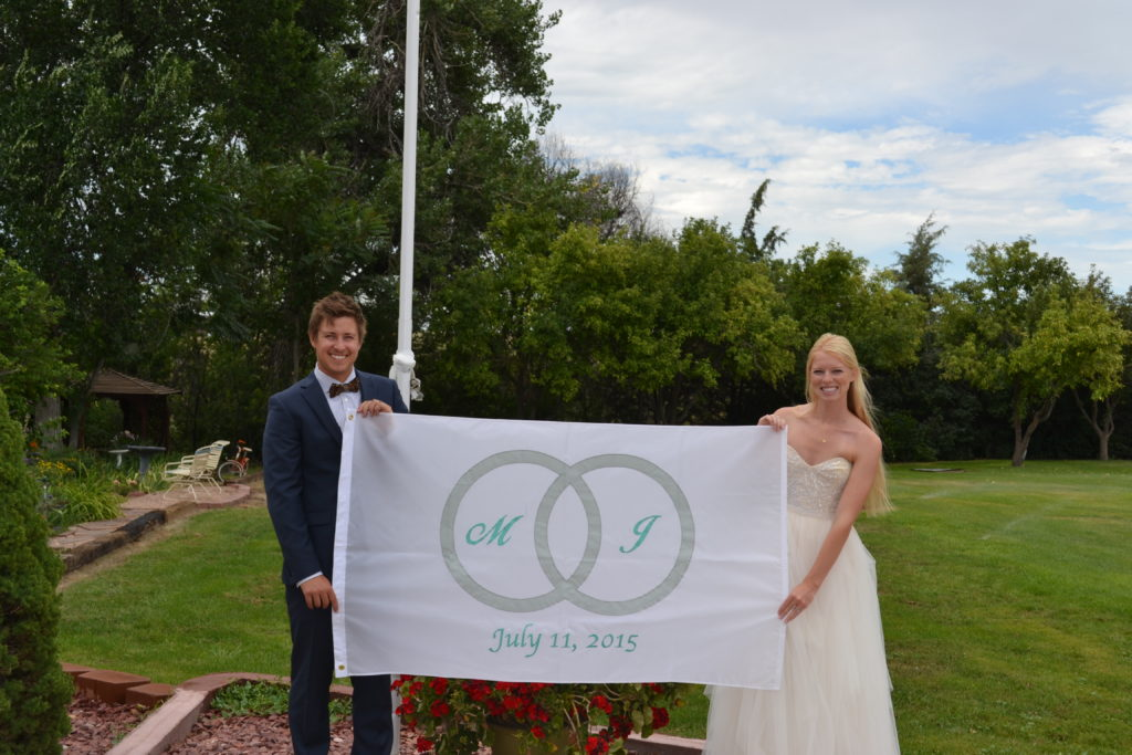 Custom Flag Company Wedding Flag