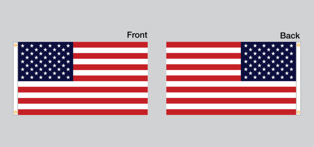 Custom Flag Company American Flag Single Side Reverse