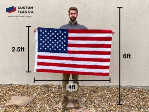 Flag Size 2.5 by 4