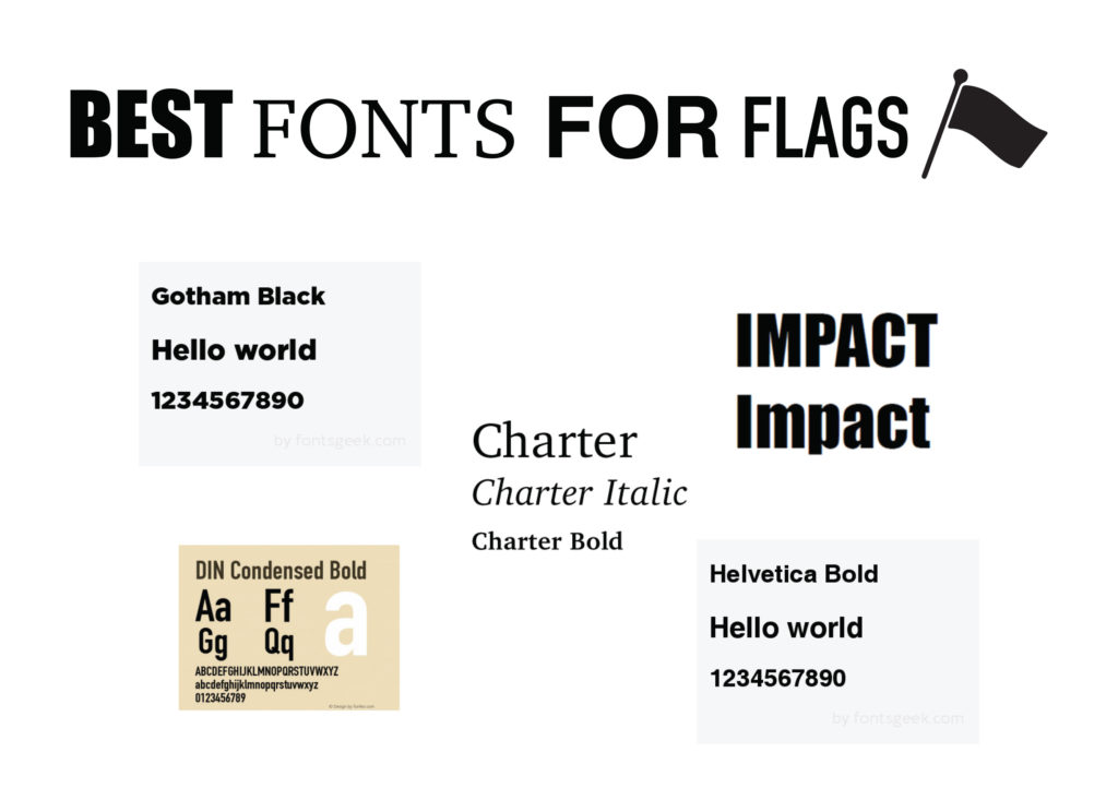 Best Fonts for Flags