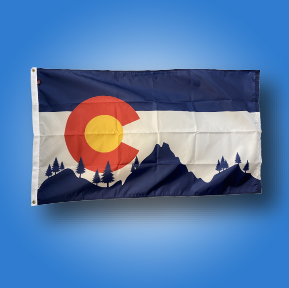 Custom Colorado Flag Mountains