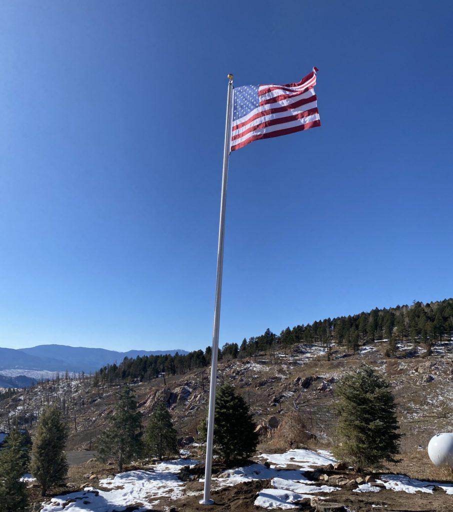 External Flagpole