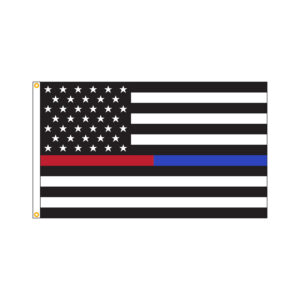 American Thin Blue & Red Line Flag