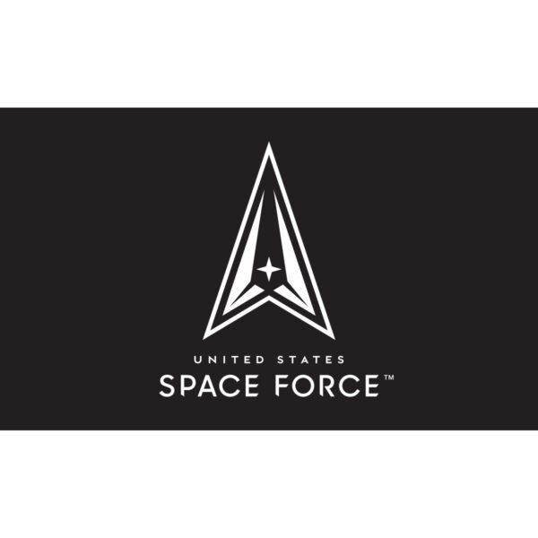 Black Space Force Flag